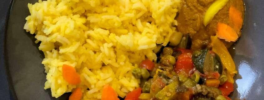 Piatto-unico-riso-zafferano-verdure-spezie